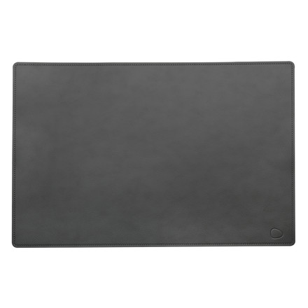 Work mat square XXL 54 x 74 cm made of cloud leather in anthracite
