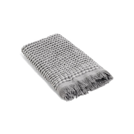 Hay - Waffle guest towel 70 x 50 cm in light grey