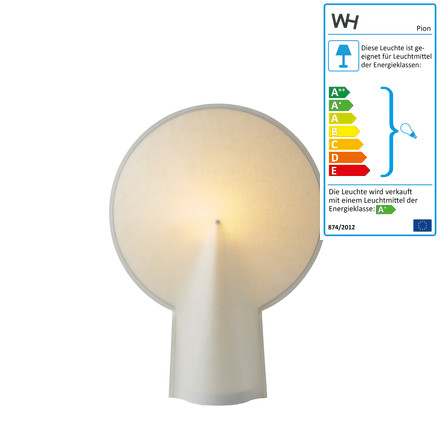 wrong.london - Pion table lamp S in natural white
