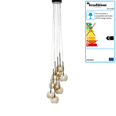 Ice Chandelier 9 SR6 by &Tradition in gold