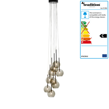 Ice Chandelier 9 SR6 by &Tradition in black