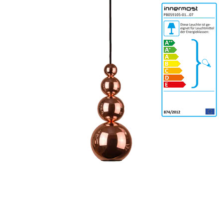 Bubble pendant lamp by Innermost in copper
