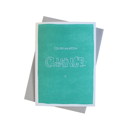 Color block wisdom card Change it by Sascha Mombartz for Holstee
