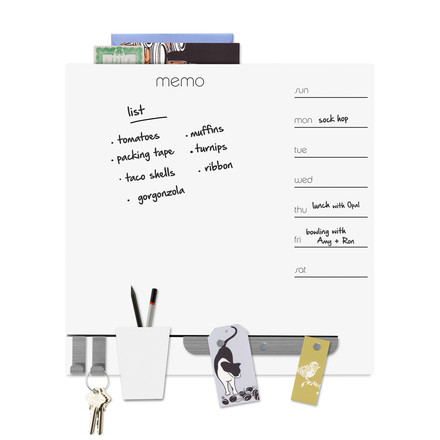 memo board with magnetic strip