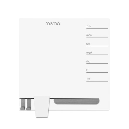 Magnetic memo board with weekly planner