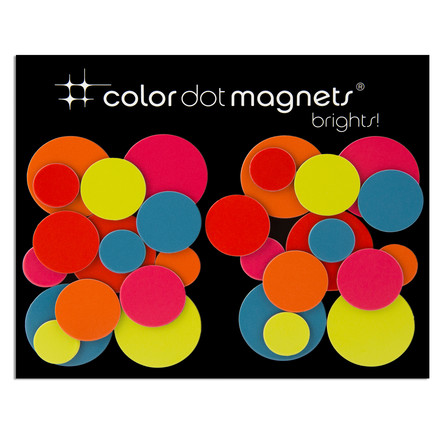 Color Dot magnets from ThreeByThree in a set of 30
