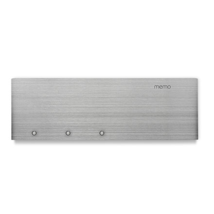 Magnetic wall bar with letter rack in silver