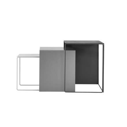 Cluster tables (set of 3) by ferm Living in grey