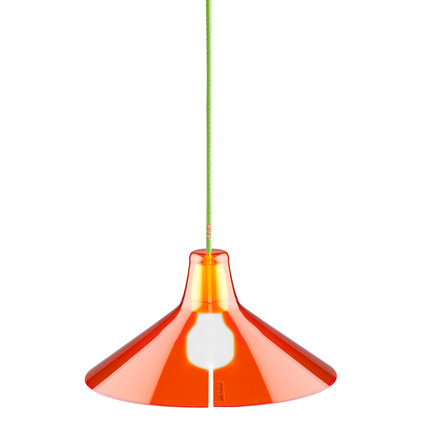 Jupe Pendant Lamp Conical by Skitsch in Orange