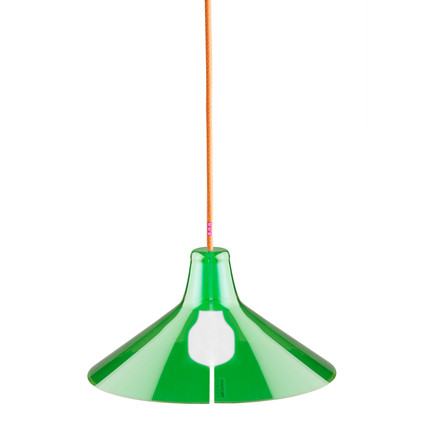 Jupe Pendant Lamp Conical by Skitsch in Green