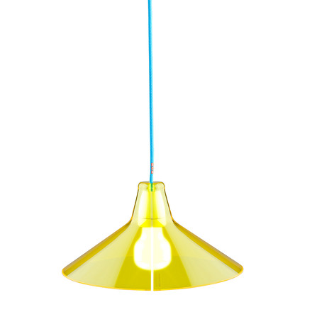 Jupe Pendant Lamp Conical by Skitsch in Yellow