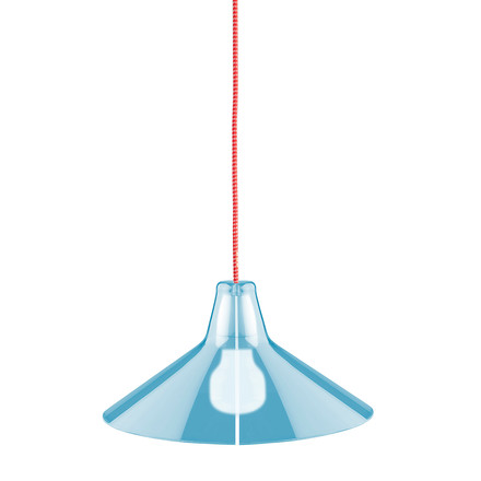 Jupe Pendant Lamp Conical by Skitsch in Blue