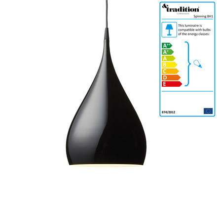 &Tradition - Spinning BH1 Pendant Lamp, black