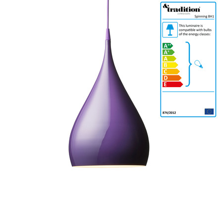 &Tradition - Spinning BH1 Pendant Lamp, purple
