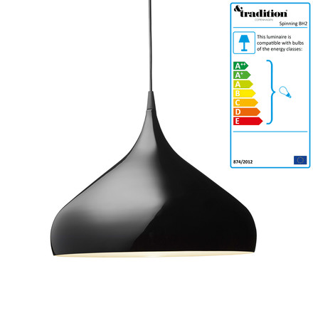 &Tradition - Spinning BH2 Suspension Lamp, black