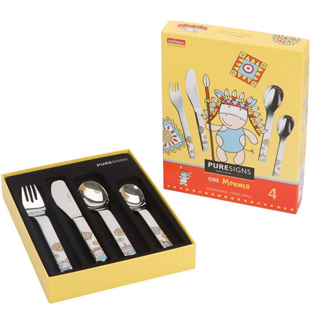 One Moema children's cutlery by Puresigns (4pcs.)