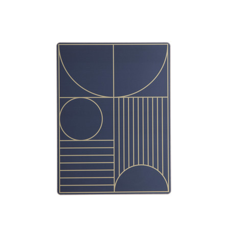 Outline Table Mat by ferm Living in Dark Blue