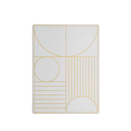 Outline Table Mat by ferm Living in Off-White