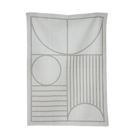 Outline Tea Towel by ferm Living in Grey