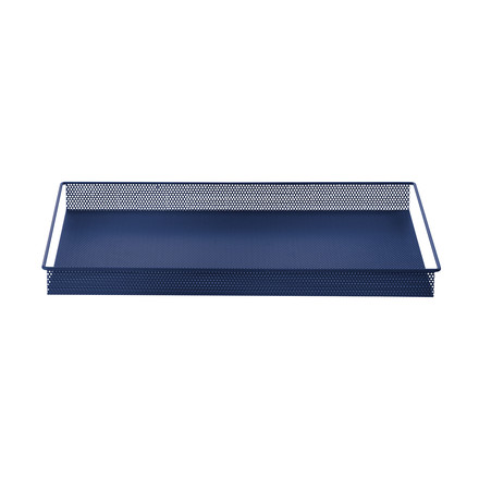 Metal Tray Large by ferm Living in Blue