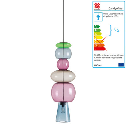 Candyofnie pendant lamp by Fatboy with 6 candies