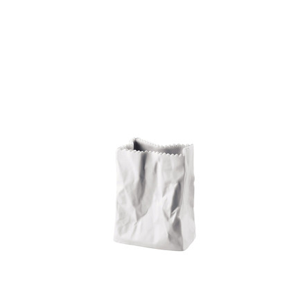 Rosenthal - Paper bag vase, 10 cm, white matt polished