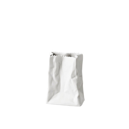 Rosenthal - Paper bag vase, 14 cm, white matt polished