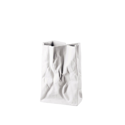 Rosenthal - Paper bag vase, 18 cm, white matt polished