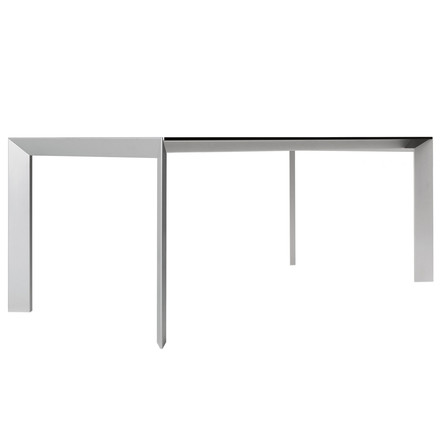Kristalia - Nori table in grey with aluminium
