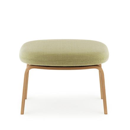 Era Footstool by Normann Copenhagen made from oak wood with breeze fusion fabric in green