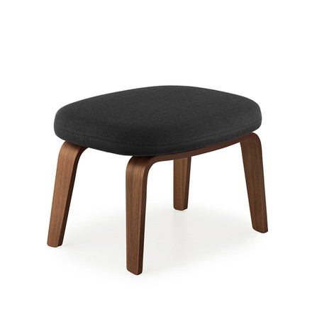 Era Footstool by Normann Copenhagen made from oak wood with breeze fusion fabric in black