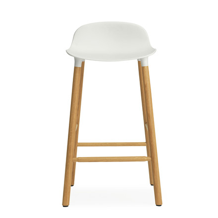Form Bar Stool 65 cm by Normann Copenhagen made of oak in white