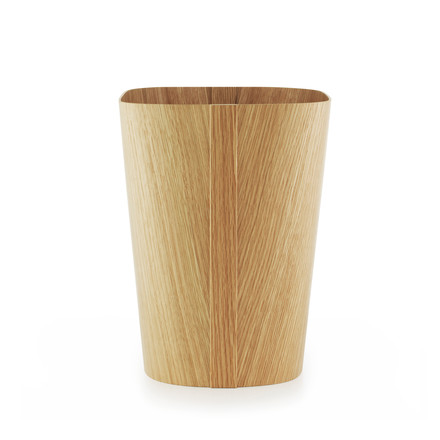 Tales of wood paper bin by Normann Copenhagen made from oak