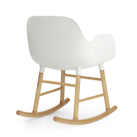 Form rocking armchair by Normann Copenhagen made of oak in white