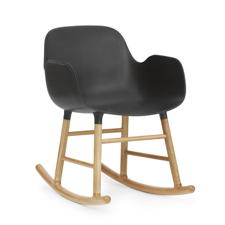 Form rocking armchair by Normann Copenhagen made of oak in black