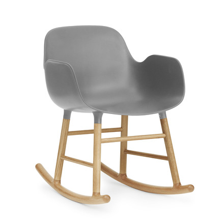 Form rocking armchair by Normann Copenhagen made of oak in grey