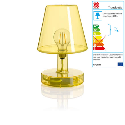 Transloetje table lamp by Fatboy in yellow