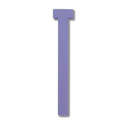 Wooden Letters Indoor T by Design Letters in Purple