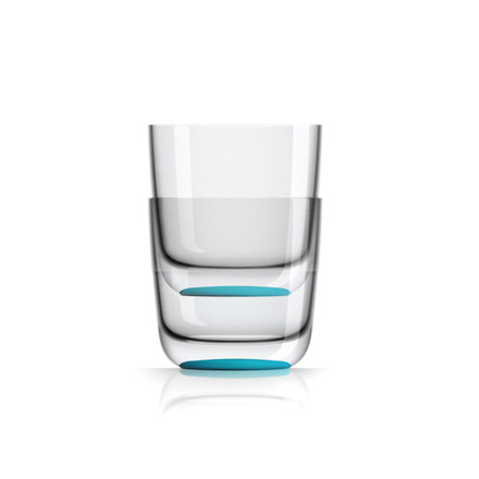 Whisky Glass 285 ml (set of 4) by Palm Products in blue