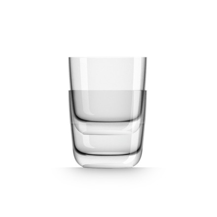 Whisky Glass 285 ml (set of 4) by Palm Products in white