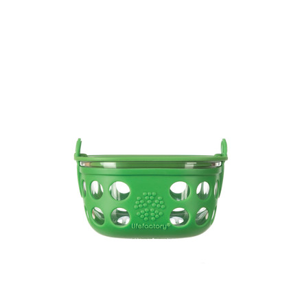 Glass Food Container 0.2 l by Lifefactory in green