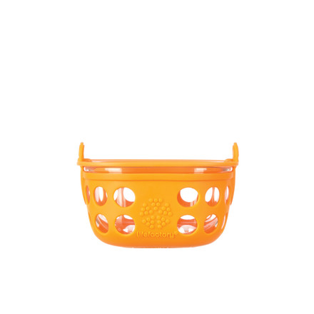 Glass Food Container 0.2 l by Lifefactory in orange