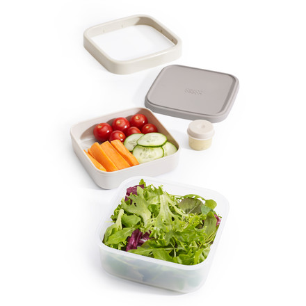 GoEat Salad Box by Joseph Joseph in grey