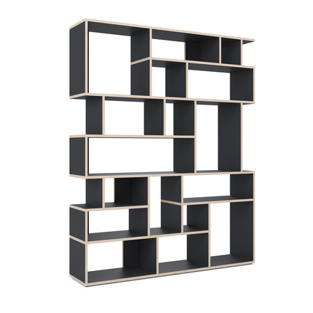 Pattern Wall Ivy shelf by Tylko in black
