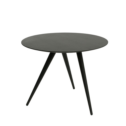 TURN HIGH side table by Maigrau made from black painted ash wood