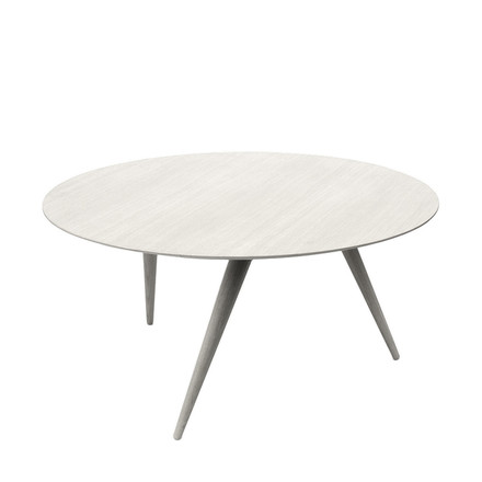 TURN LOW coffee table by Maigrau, white painted ash