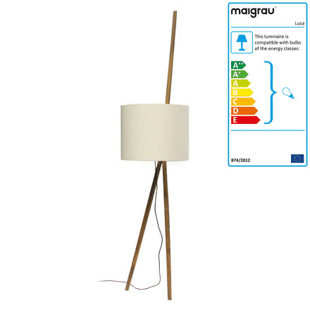 Luca lean lamp by Maigrau made of natural white oak