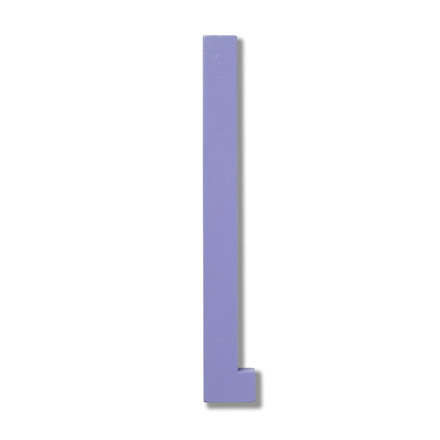 Design Letters - Wooden Letters Indoor L in purple