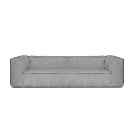 The Hay Mags Soft Sofa 2.5 seater in Hallingdal 130 light grey