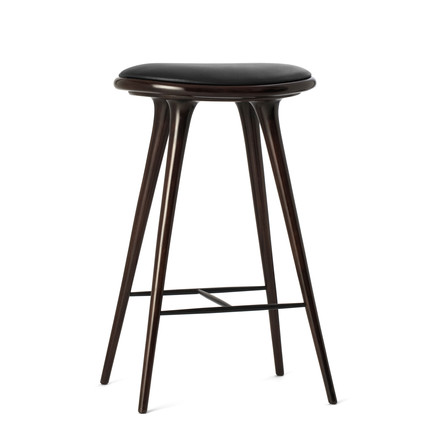 Bar stools by Marta dark stained beech